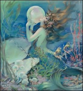 vintage bubble mermaid